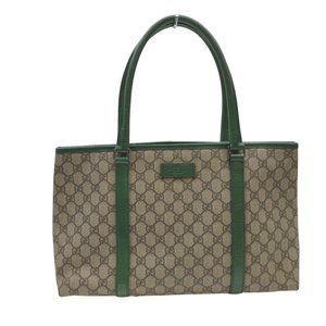 Auth Gucci Tote Bag Light Brown Coated #N79969C76